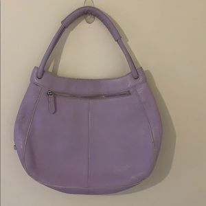 Cole Haan lilac purse leather